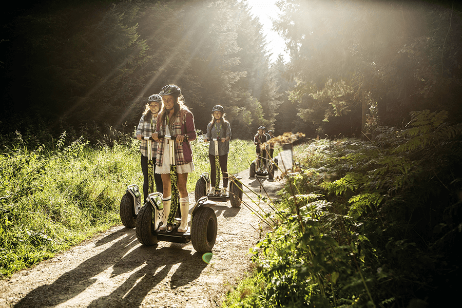 People on Segways in the Lake District