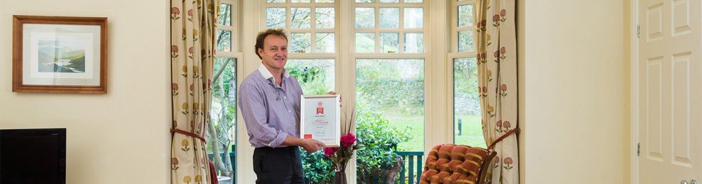 Lakelovers MD Paul Liddell at ROSE Award-winning Pudding Cottage