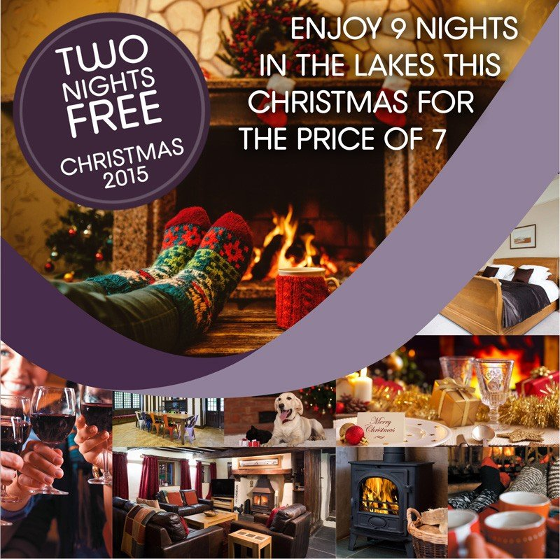 Lakelovers Christmas 2015 Two Nights for Free Offer