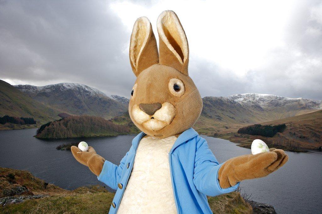 Peter Rabbit launching the 2011 Easter Egg Hunt. World Of Beatrix Potter Attraction © Steven Barber Photography Ltd