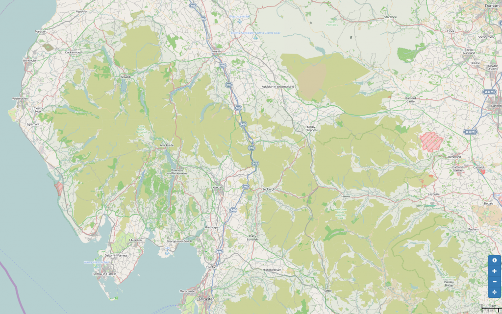 Map Cumbria Bridleways