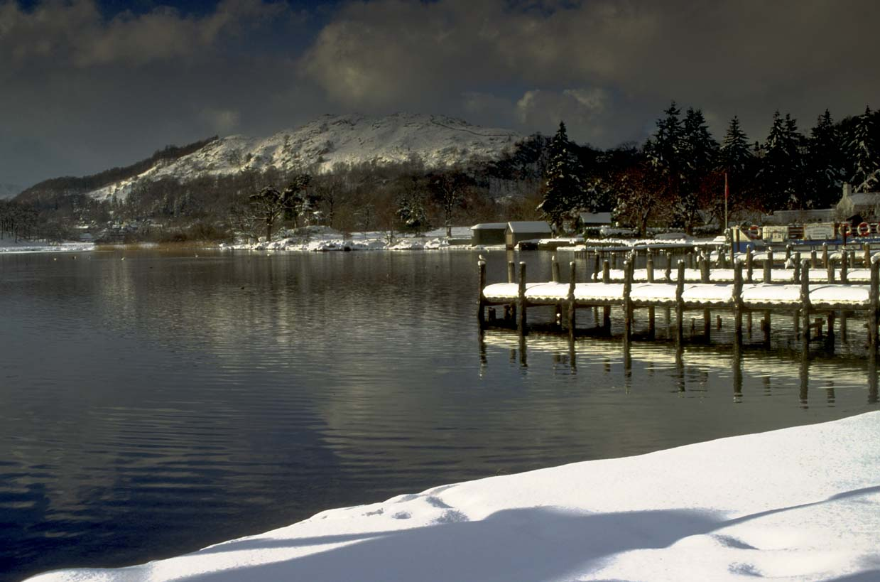 View across Windermere and onto Loughrigg from Waterhead.