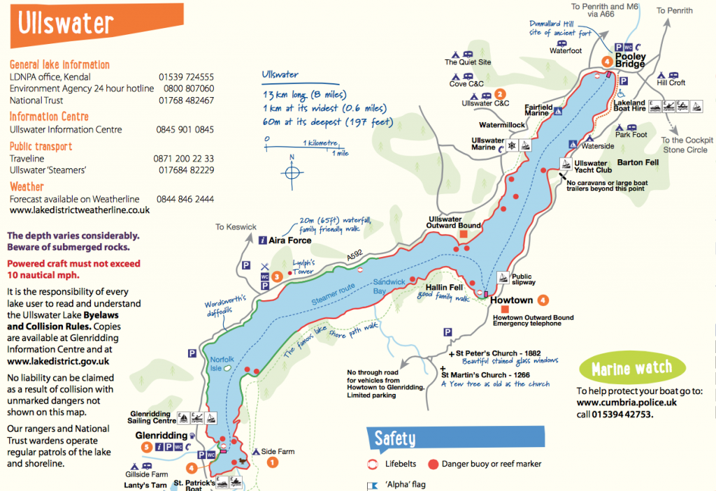 Howtown to Glenridding walk map via Lakedistrict.gov.uk