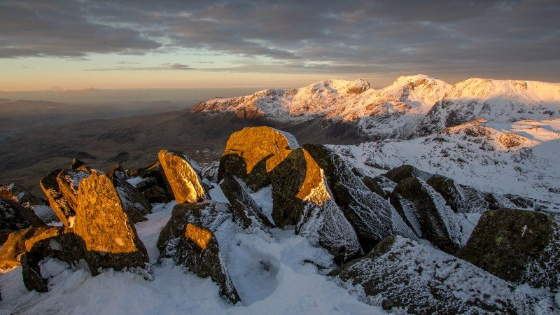 December dawn from Bowfell to the Scafells ©Terry Abraham