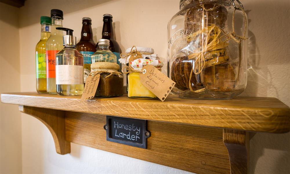 Charming honesty larder with local products