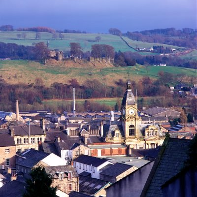 Looking East over Kendal town centre.