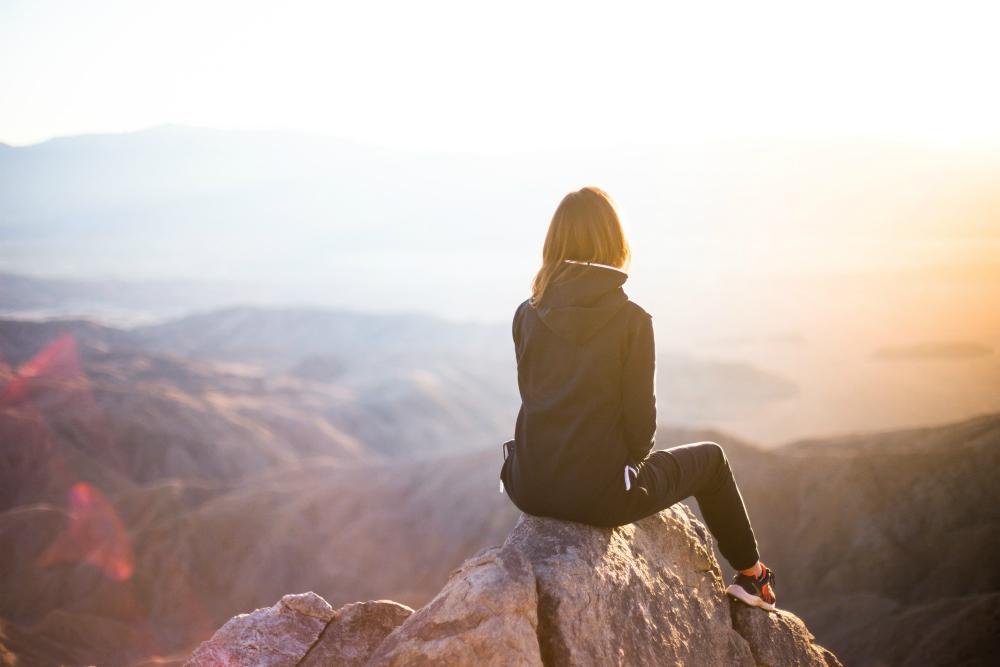 mindfulness on a mountain