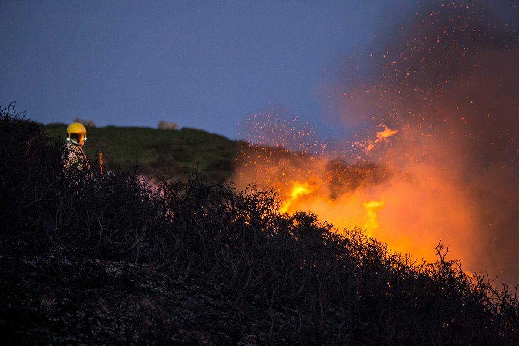 Fire in Wales