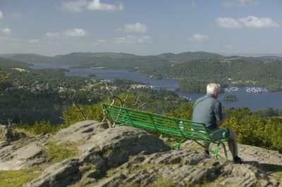 View over Lake Windermere from the top of Orrest Head Crag Hoppers Shoot 2006